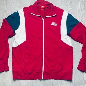 Nike zip jacket striped detail logo front